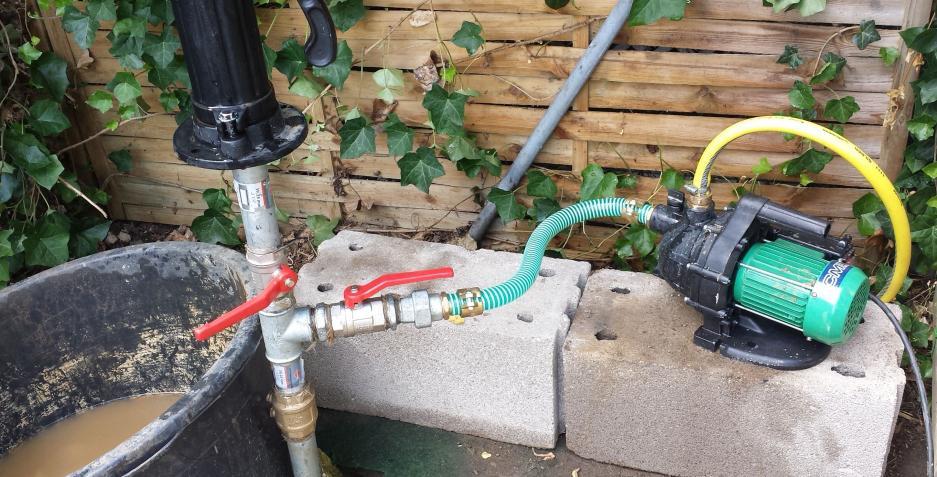 Lieblings Schwengelpumpe zieht und E-Pumpe bringt kein Wasser @CU_03