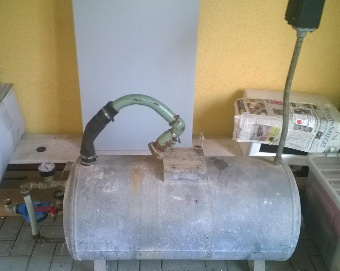 Alte Anlage mit Druckkessel wieder in Betrieb nehmen ...