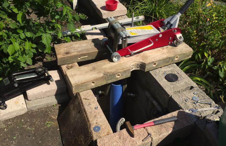 Sehr In bestehenden Brunnen DN115 einen DN80 Brunnen mit XR37