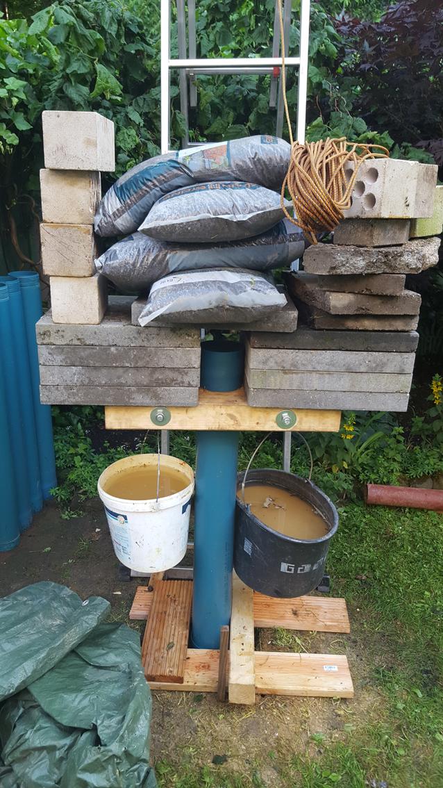 Hervorragend Brunnenrohr 125mm steckt fest, Kiesbüchse geht weiter AL04
