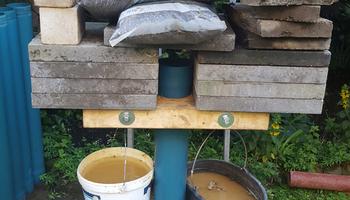 Beliebt Brunnenrohr 125mm steckt fest, Kiesbüchse geht weiter OA03