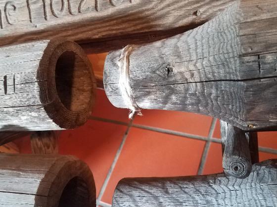 Holzrohr Schachtbrunnen konisch mit Dichtung