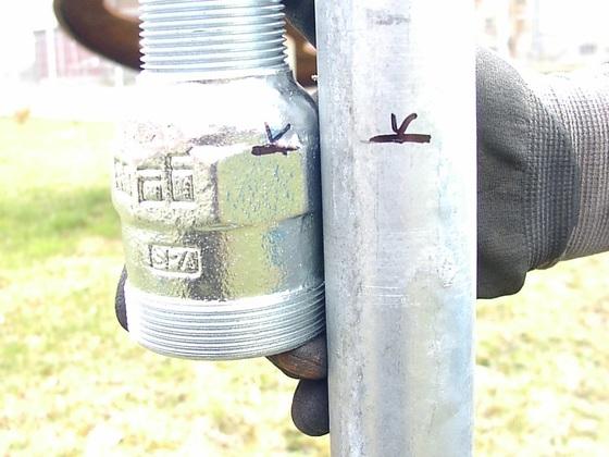 Rammbrunnen Rohr kürzen oder Verlängern nach dem absägen