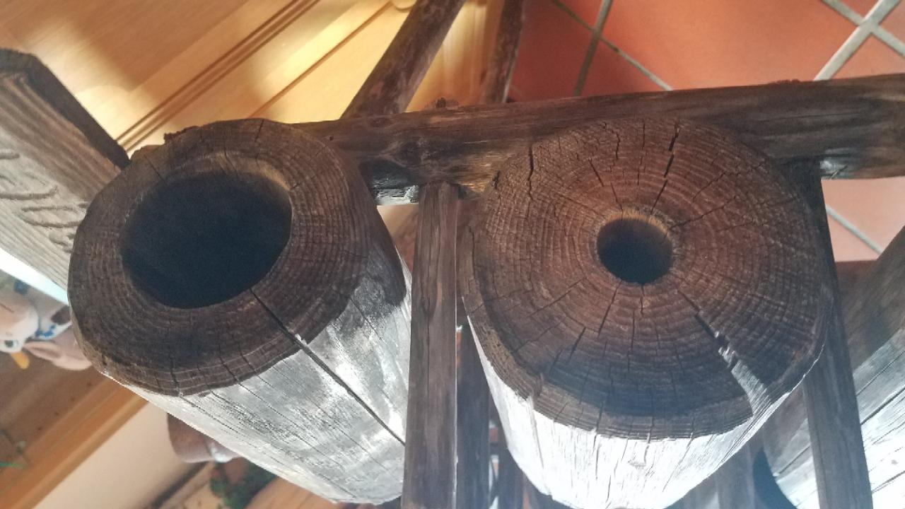 Holzrohr für Schwengelpumpe Schachtbrunnen