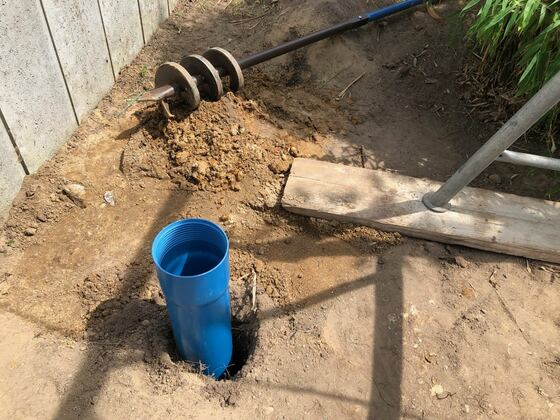 Erster Test mit Brunnenrohr
