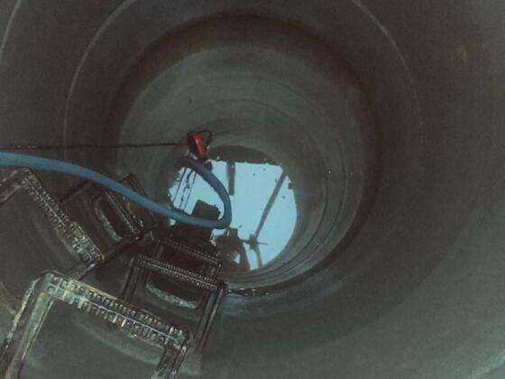 Der jetzige Brunnen mit 3m tiefe