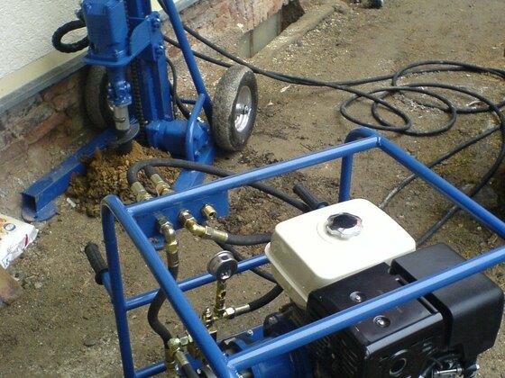 Hydraulik bohrgerät keller brunnen