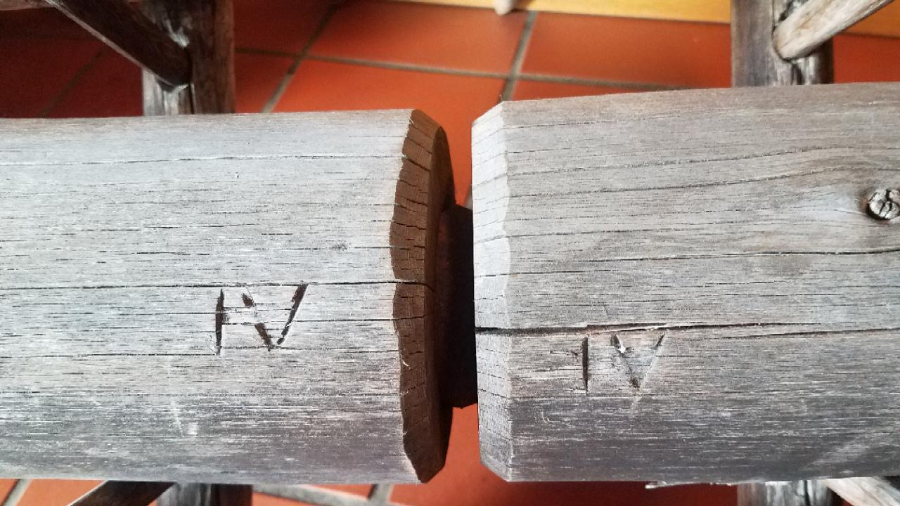 Holzrohr Brunnen Verbindung